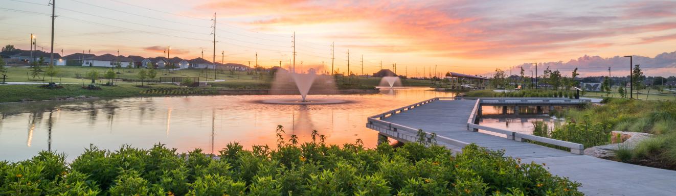 Mercy Park in Joplin at sunset