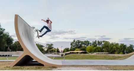 A skateboarder at Ewert Park in Joplin