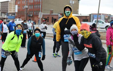 Joplin Memorial Run racers in downtown Joplin
