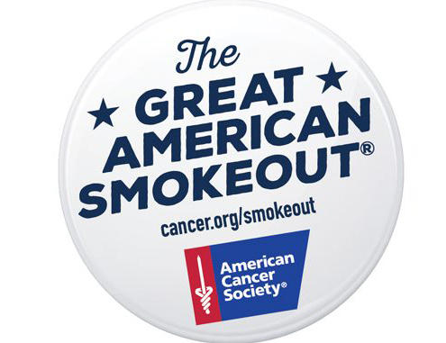 Logo for the Great American Smokeout event held by the American Cancer Society